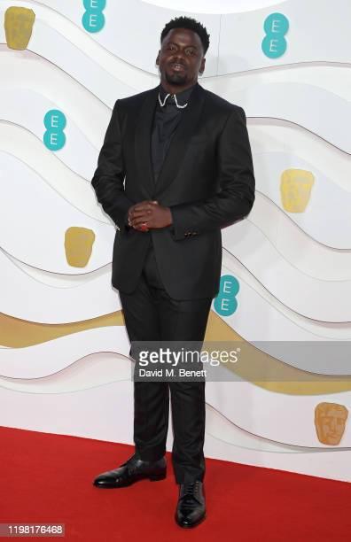 Daniel Kaluuya arrives at the EE British Academy Film Awards 2020 at Royal Albert Hall on February 2 2020 in London England