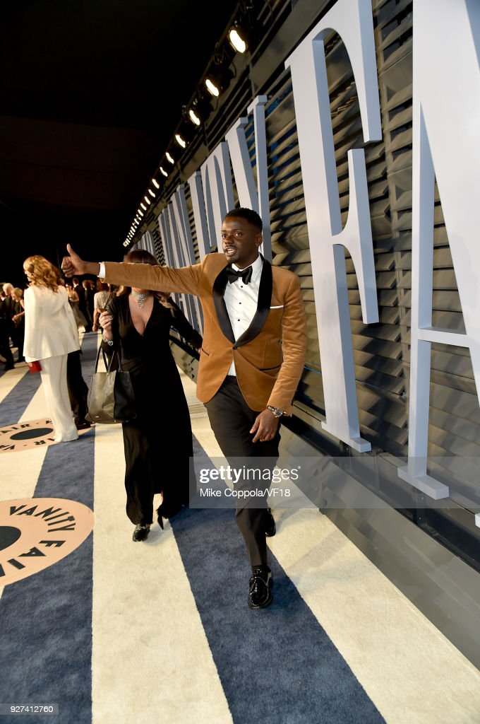 Daniel Kaluuya attends the 2018 Vanity Fair Oscar Party hosted by Radhika Jones at Wallis Annenberg Center for the Performing Arts on March 4, 2018 in Beverly Hills, California.