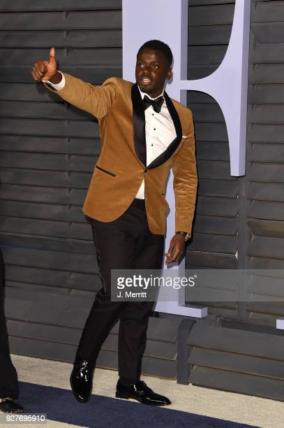 Daniel Kaluuya attends the 2018 Vanity Fair Oscar Party hosted by Radhika Jones at the Wallis Annenberg Center for the Performing Arts on March 4...