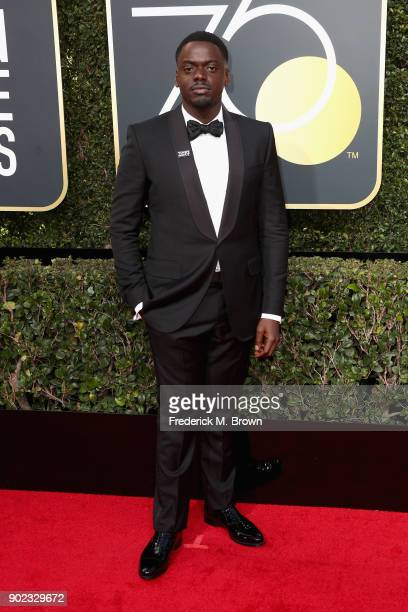 Daniel Kaluuya attends The 75th Annual Golden Globe Awards at The Beverly Hilton Hotel on January 7 2018 in Beverly Hills California