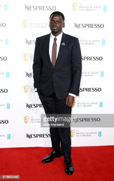 Daniel Kaluuya attends the EE British Academy Film Awards nominees party at Kensington Palace on February 17 2018 in London England