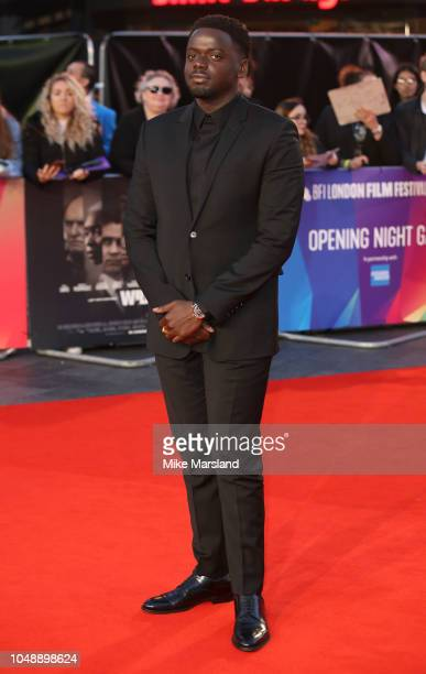 """Daniel Kaluuya attends the European Premiere of """"Widows"""" and opening night gala of the 62nd BFI London Film Festival on October 10, 2018 in London,..."""