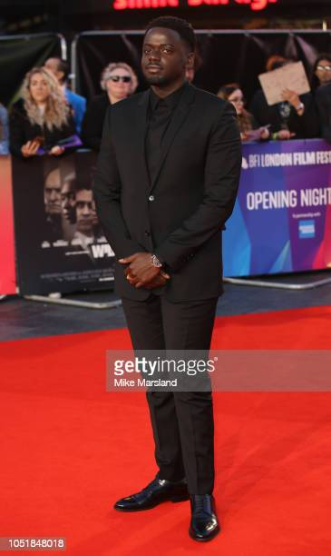 Daniel Kaluuya attends the European Premiere of Widows and opening night gala of the 62nd BFI London Film Festival on October 10 2018 in London...