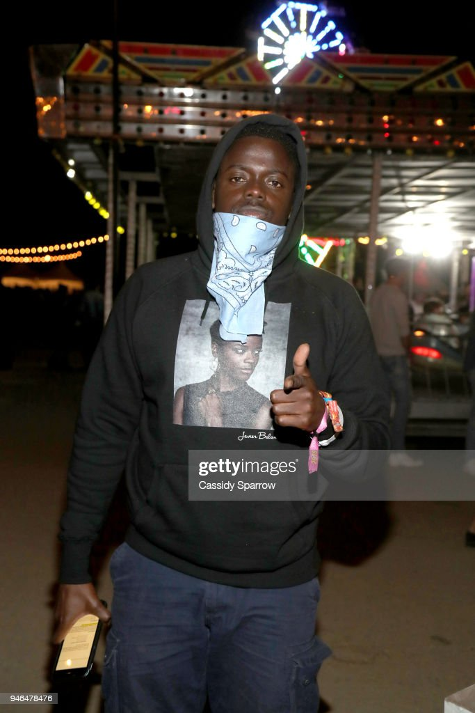 Daniel Kaluuya attends The Levi's Brand Presents NEON CARNIVAL with Tequila Don Julio on April 14, 2018 in Thermal, California.