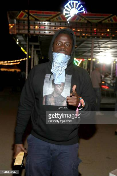 Daniel Kaluuya attends The Levi's Brand Presents NEON CARNIVAL with Tequila Don Julio on April 14 2018 in Thermal California