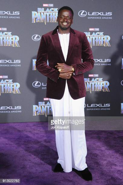 Daniel Kaluuya attends the Los Angeles Premiere Black Panther at Dolby Theatre on January 29 2018 in Hollywood California