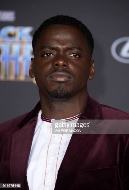 Daniel Kaluuya attends the world premiere of Marvel Studios Black Panther, on January 29 in Hollywood, California. / AFP PHOTO / VALERIE MACON / The...
