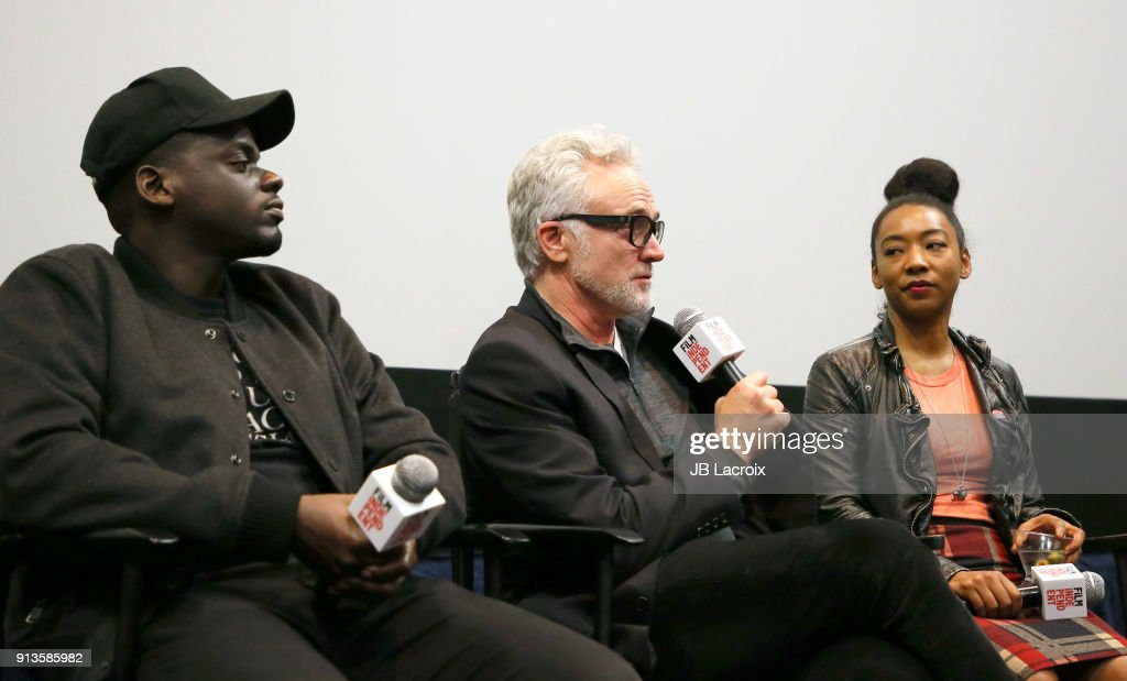 Daniel Kaluuya, Bradley Whitford and Betty Gabriel attend a Film Independent screening series - 'Get Out' on February 02, 2018 in Los Angeles, California.