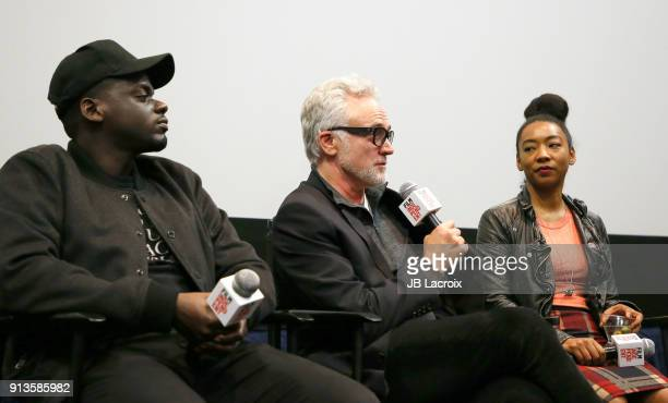 Daniel Kaluuya Bradley Whitford and Betty Gabriel attend a Film Independent screening series 'Get Out' on February 02 2018 in Los Angeles California