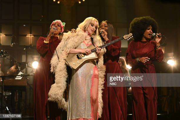 """Daniel Kaluuya"""" Episode 1801 -- Pictured: Musical guest St. Vincent performs on Saturday, April 3, 2021 --"""