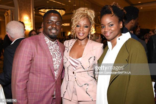 Daniel Kaluuya Mary J Blige and Dee Rees attend The BAFTA Los Angeles Tea Party at Four Seasons Hotel Los Angeles at Beverly Hills on January 6 2018...