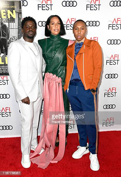 Daniel Kaluuya Melina Matsoukas and Lena Waithe attend the Queen Slim Premiere at AFI FEST 2019 presented by Audi at the TCL Chinese Theatre on...