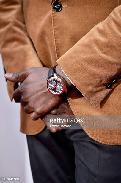Daniel Kaluuya watch and fashion details attends the 90th Annual Academy Awards at Hollywood Highland Center on March 4 2018 in Hollywood California