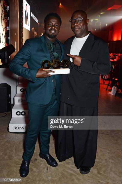 Daniel Kaluuya winner of Actor of the Year and Steve McQueen attend the GQ Men of the Year Awards 2018 in association with HUGO BOSS at Tate Modern...