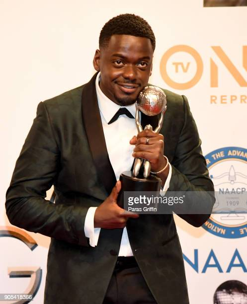Daniel Kaluuya winner of Outstanding Actor in a Motion Picture for 'Get Out' poses in the press room for the 49th NAACP Image Awards at Pasadena...