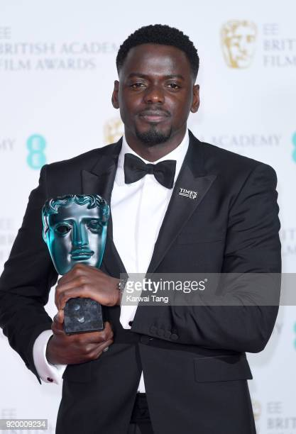 Daniel Kaluuya wins the EE Rising Star Award during the EE British Academy Film Awards held at the Royal Albert Hall on February 18 2018 in London...