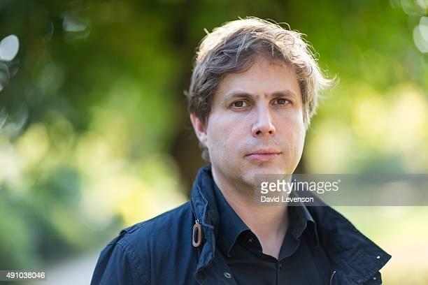 Daniel Kehlmann author of the bestselling Measuring the World at the Cheltenham Literature Festival on October 2 2015 in Cheltenham England