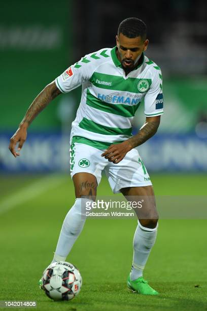 Daniel KeitaRuel of Fuerth plays the ball during the Second Bundesliga match between SpVgg Greuther Fuerth and Hamburger SV at Sportpark Ronhof...