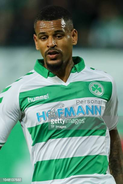 Daniel KeitaRuel of Greuther Fuerth looks on during the Second Bundesliga match between SpVgg Greuther Fuerth and Hamburger SV at Sportpark Ronhof...