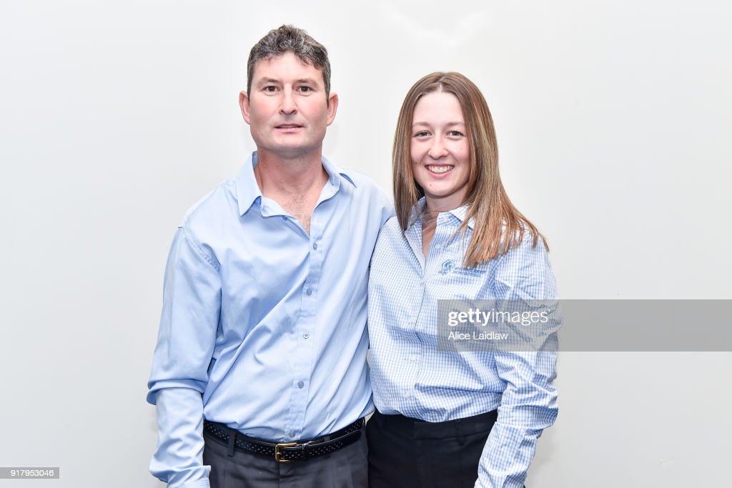 Daniel Kelly and Alana Kelly at the Apprentice Jockeys Induction at Racing Victoria on February 14, 2018 in Flemington, Australia.