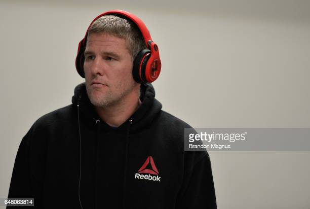 Daniel Kelly of Australia warms up backstage during the UFC 209 event at TMobile arena on March 4 2017 in Las Vegas Nevada