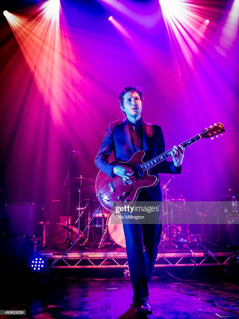 Daniel Kessler of Interpol performs at the NME Awards Tour Show at The Institute on March 25, 2014 in Birmingham, England.