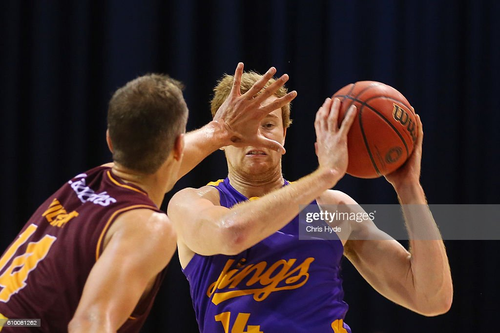 Daniel Kickert of the Kings looks to pass during the Australian Basketball Challenge match between Brisbane Bullets and Sydney Kings at the Brisbane Convention and Exhibition Centre September 24, 2016 in Brisbane, Australia.