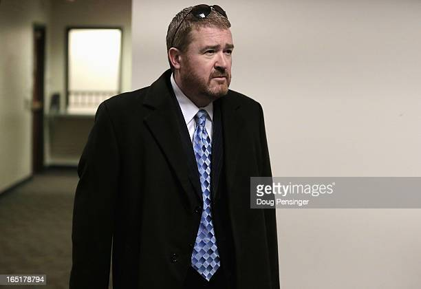 Daniel King defense attorney for Aurora theater shooting suspect James Holmes arrives at the courtroom for a hearing in the Arapahoe County Justice...