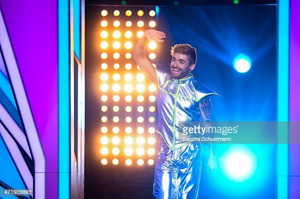 Daniel Kueblboeck reacts during the 7th show of the television competition 'Let's Dance' on May 1 2015 in Cologne Germany