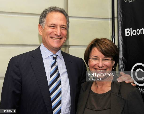 Daniel L. Doctoroff, President CEO of Bloomberg LP and Senator Amy Klobuchar attends the 2012 Center for Communication Annual Luncheon at The Pierre...