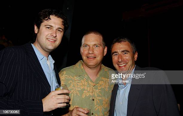 Daniel Laikand Jon Kroll senior vice president of Television and executive producer of 'Amish in the City' and Jim Rosenthal president of New Line...