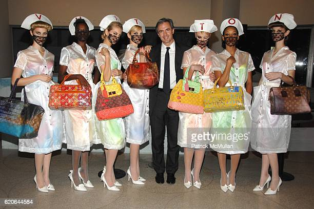 Daniel Lalonde and Louis Vuitton Models attend LOUIS VUITTON Launch Party for the RICHARD PRINCE Handbag Collection cohosted by THE GUGGENHEIM MUSEUM...