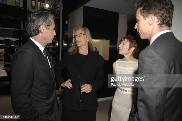 Daniel Lalonde Annie Leibovitz Lisa Rinehart and Geoffroy van Raemdonck attend Salon de Louis Vuitton honoring Mikhail Baryshnikov at Louis Vuitton...