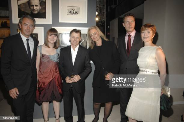 Daniel Lalonde Kate Davis Mikhail Baryshnikov Annie Leibovitz Geoffroy van Raemdonck and Lisa Rinehart attend Salon de Louis Vuitton honoring Mikhail...