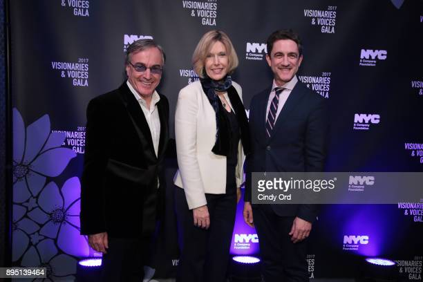 Daniel Lamarre CEO of Cirque du Soleil Dawn Hudson of the NFL and Danny Boockvar of NFL Experience attend the NYC Company Foundation Visionaries...