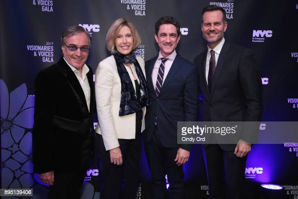Daniel Lamarre CEO of Cirque du Soleil Dawn Hudson of the NFL Danny Boockvar of NFL Experience and Fred Dixon of NYC Company attend the NYC Company...