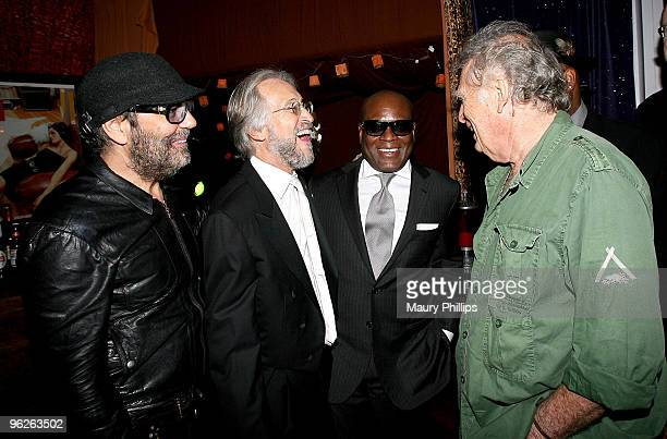Daniel Lanois president of the Recording Academy Neil Portnow LA Reid and Chris Blackwell attend the Catch a Fire PE Wing Event at The Villiage...