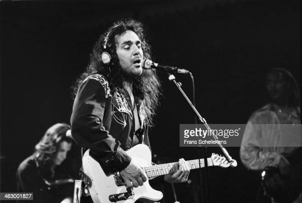 Daniel Lanois, producer-guitar, performs at the Paradiso on 4th July 1990 in Amsterdam, the Netherlands.