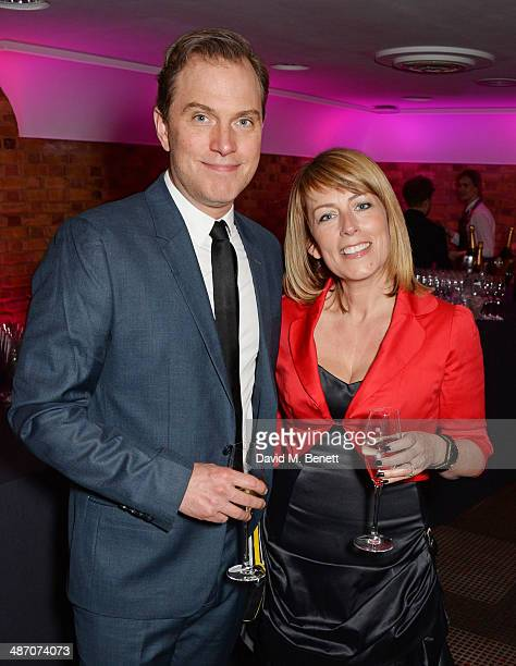 Daniel Lapaine and Fay Ripley attend the BAFTA Television Craft Awards at The Brewery on April 27 2014 in London England
