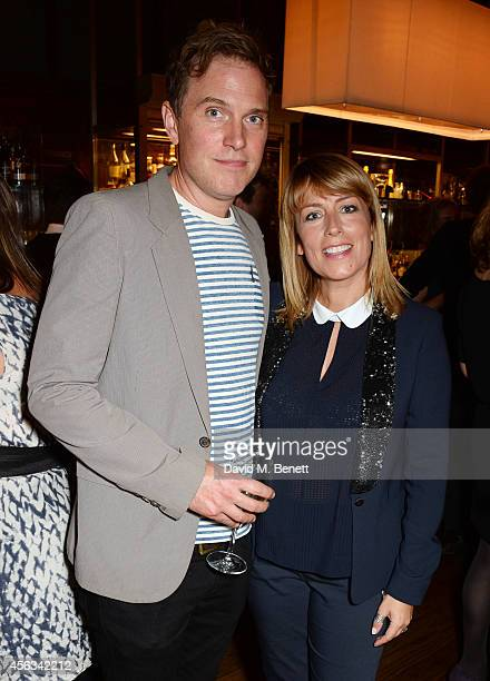 Daniel Lapaine and Fay Ripley attend the launch of new novel Us by David Nicholls in the Booking Office Bar Restaurant at the St Pancras Renaissance...