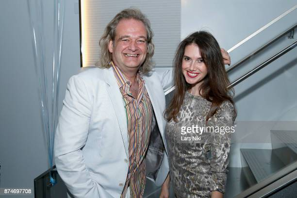 Daniel Laporte and Jamie Watkins attend the Blu Perfer Blue Brut Launch Party for The 2018 8th annual Better World Awards on November 15 2017 in New...