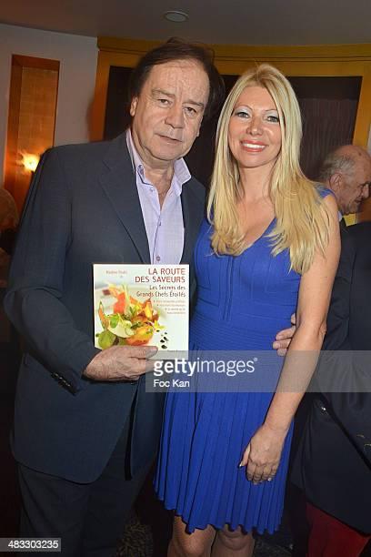 Daniel Lauclair and Nadine Rodd attend 'La Route Des Saveurs Les Secrets Des Grands Chefs Etoiles' Nadine Rodd's Launch Book At the Restaurant Le...