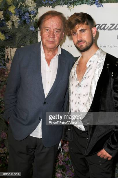 """Daniel Lauclair and Yanis Bargoin attend the """"Fresh Magazine"""" launch party on June 10, 2021 in Paris, France."""
