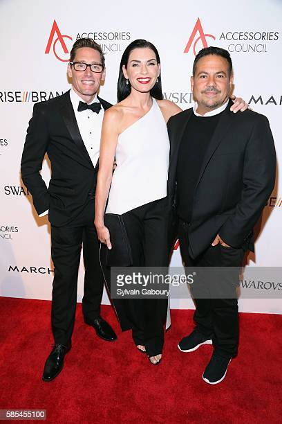 Daniel Lawson Julianna Margulies and Narcisco Rodriguez attend 20th Anniversary of the ACE Awards at Cipriani 42nd Street on August 2 2016 in New...