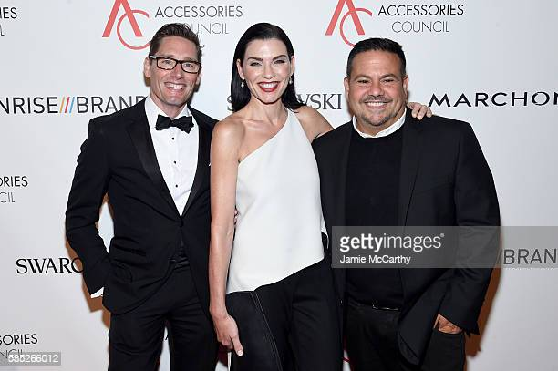 Daniel Lawson Julianna Margulies and Narciso Rodriguez attend the Accessories Council 20th Anniversary celebration of the ACE awards at Cipriani 42nd...
