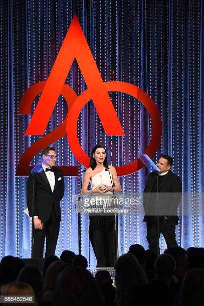 Daniel Lawson Julianna Margulies and Narciso Rodriguez speak onstage during the Accessories Council 20th Anniversary celebration of the ACE awards at...
