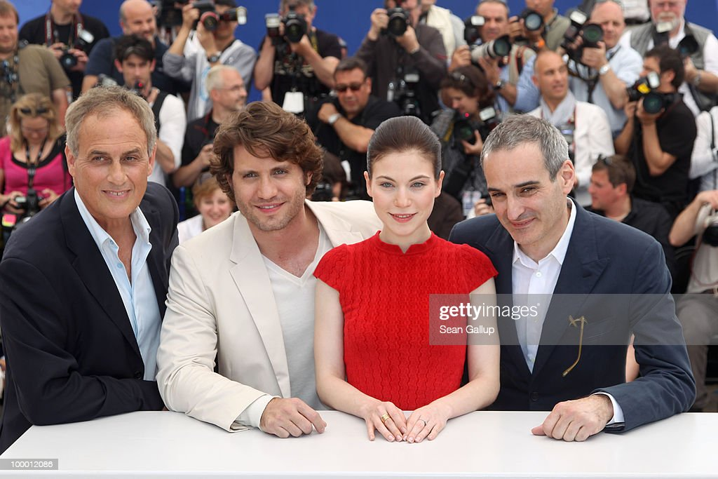 Daniel Leconte, Actress Nora Von Waldstatten, Edgar Ramirez and Director Olivier Assayas attends the 'Carlos' Photocall at the Palais des Festivals during the 63rd Annual Cannes Film Festival on May 20, 2010 in Cannes, France.