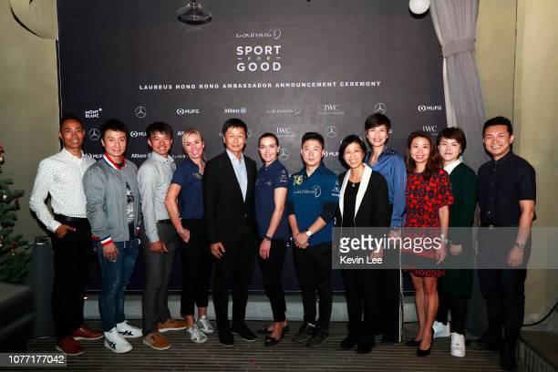 Daniel Lee Chi Wo Alex Fong Lik Sun Wong Kam Po Laureus Ambassador Annabelle Bond Commissioner for Sports Yeung Tak Keung Laureus Ambassador Victoria...