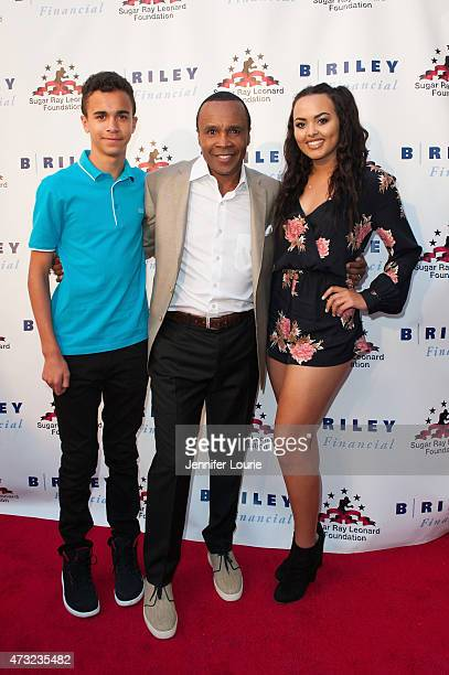 Daniel Leonard former Boxer Sugar Ray Leonard and Camille Leonard arrive at the 6th Annual Big Fighters Big Cause Charity Boxing Night at the Dolby...