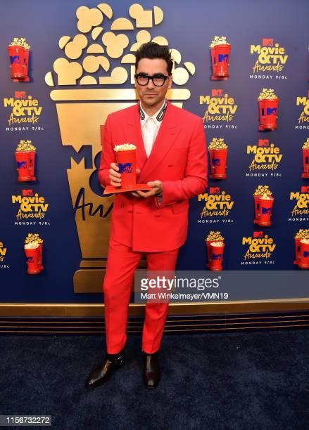 Daniel Levy attends the 2019 MTV Movie and TV Awards at Barker Hangar on June 15 2019 in Santa Monica California